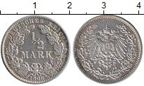 Изображение Монеты Европа Германия 1/2 марки 1906 Серебро XF