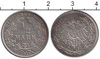 Изображение Монеты Германия 1/2 марки 1918 Серебро XF Е. Орел