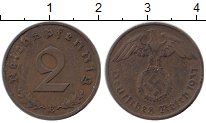 Изображение Монеты Третий Рейх 2 пфеннига 1937 Бронза XF