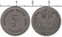 Изображение Монеты Европа Германия 5 пфеннигов 1895 Медно-никель XF
