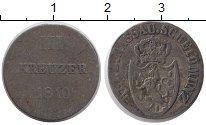 Изображение Монеты Германия Нассау 3 крейцера 1810 Серебро VF