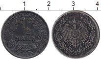 Изображение Монеты Германия 1/2 марки 1917 Серебро XF- G. Орел
