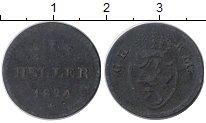 Изображение Монеты Германия Гессен-Дармштадт 1 геллер 1824 Медь VF
