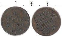 Изображение Монеты Бавария 1 пфенниг 1796 Медь XF-