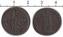 Изображение Монеты Германия Гослар 1 пфенниг 1753 Медь XF-