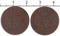Изображение Монеты Германия Мекленбург-Стрелитц 3 пфеннига 1753 Медь XF