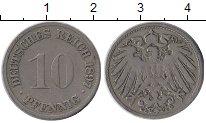 Изображение Монеты Европа Германия 10 пфеннигов 1897 Медно-никель XF