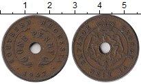 Изображение Монеты Родезия 1 пенни 1947 Медь XF Георг VI