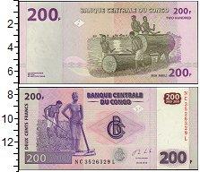 Изображение Банкноты Африка Конго 200 франков 2013  UNC