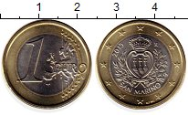 Изображение Монеты Европа Сан-Марино 1 евро 2015 Биметалл UNC-