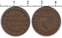 Изображение Монеты Нассау 1 крейцер 1842 Медь XF