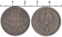 Изображение Монеты Европа Германия 1 марка 1886 Серебро XF