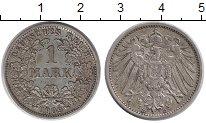 Изображение Монеты Европа Германия 1 марка 1909 Серебро XF