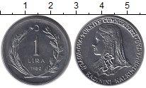 Изображение Монеты Турция 1 лира 1980 Медно-никель UNC- ФАО