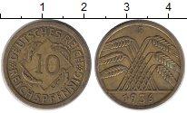 Изображение Монеты Веймарская республика 10 пфеннигов 1936 Латунь XF