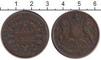 Изображение Монеты Индия 1/2 анны 1835 Медь XF