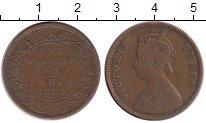 Изображение Монеты Азия Индия 1/4 анны 1862 Медь XF