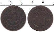 Изображение Монеты Нидерландская Индия 1 цент 1859 Медь VF