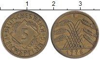 Изображение Монеты Веймарская республика 5 пфеннигов 1926 Латунь XF