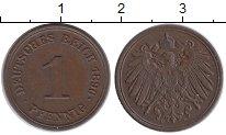 Изображение Монеты Германия 1 пфенниг 1896 Медь XF F