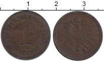 Изображение Монеты Европа Германия 1 пфенниг 1887 Медь XF