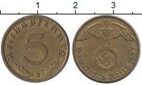 Изображение Монеты Третий Рейх 5 пфеннигов 1937 Латунь XF E