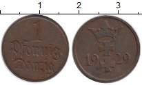 Изображение Монеты Данциг 1 пфенниг 1929 Медь XF