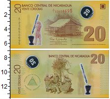 Изображение Банкноты Никарагуа 20 кордоба 2007 Пластик UNC
