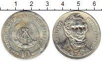 Изображение Монеты ГДР 10 марок 1978 Серебро UNC-