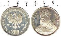 Изображение Монеты Польша 200 злотых 1979 Серебро Proof- Мешко I