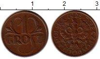Изображение Монеты Европа Польша 1 грош 1925 Бронза XF