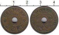 Изображение Монеты Европа Дания 2 эре 1936 Бронза XF