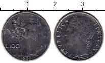 Изображение Монеты Европа Италия 100 лир 1990 Сталь UNC-