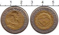 Изображение Монеты Филиппины 10 писо 2002 Биметалл XF Национальные  герои