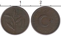 Изображение Монеты Турция 1 куруш 1971 Бронза XF