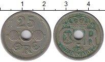 Изображение Монеты Европа Дания 25 эре 1924 Медно-никель XF