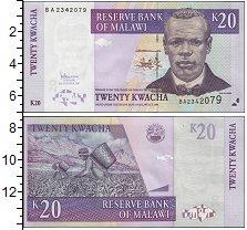 Изображение Банкноты Малави 20 квач 2009  UNC-