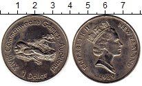 Изображение Монеты Австралия и Океания Новая Зеландия 1 доллар 1989 Медно-никель UNC-