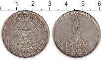Изображение Монеты Третий Рейх 5 марок 1935 Серебро XF-