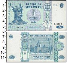Изображение Банкноты СНГ Молдавия 5 лей 2013  UNC