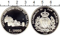 Изображение Монеты Европа Сан-Марино 10000 лир 1998 Серебро Proof