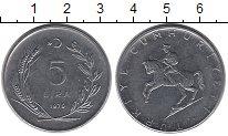 Изображение Монеты Турция 5 лир 1979 Сталь UNC-