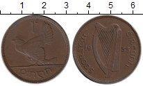 Изображение Монеты Ирландия 1 пенни 1933 Бронза XF Курица  с  цыплятами