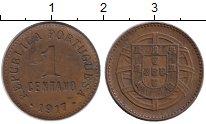 Изображение Монеты Европа Португалия 1 сентаво 1917 Бронза XF