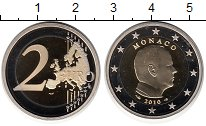 Изображение Монеты Монако 2 евро 2010 Биметалл Proof-