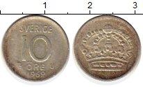 Изображение Монеты Швеция 10 эре 1962 Серебро XF