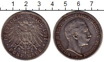 Изображение Монеты Германия Пруссия 5 марок 1901 Серебро XF