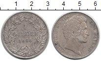Изображение Монеты Бавария 1 гульден 1844 Серебро XF Людвиг I