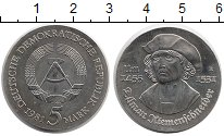 Изображение Монеты ГДР 5 марок 1981 Медно-никель UNC- Тильман Рименшнейдер
