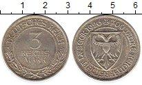 Изображение Монеты Германия Веймарская республика 3 марки 1926 Серебро UNC-